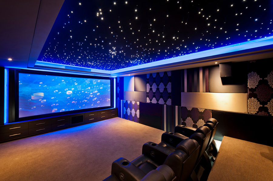 Idee per realizzare una sala cinema in casa n.15