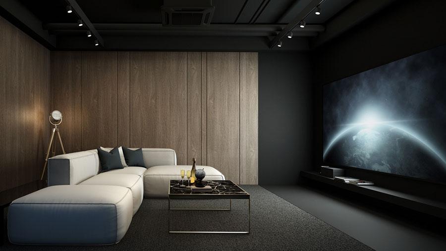 Idee per realizzare una sala cinema in casa n.17