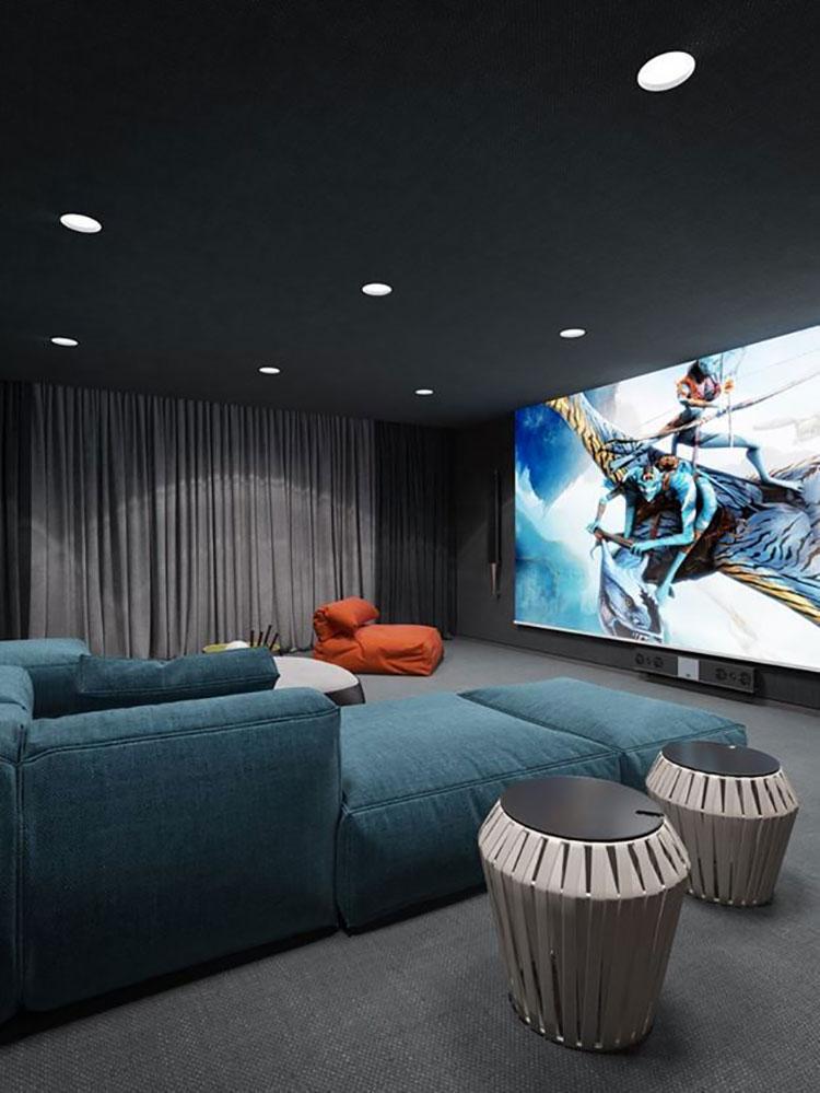 Idee per realizzare una sala cinema in casa n.18