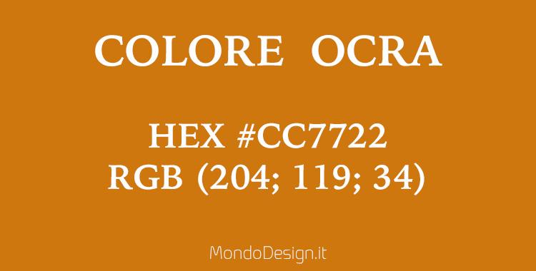 Colore ocra codici identificativi