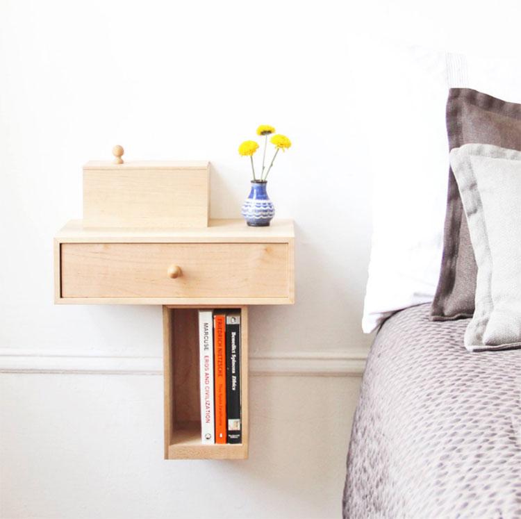 Comodino design modello Bedside Console di Pelle Design