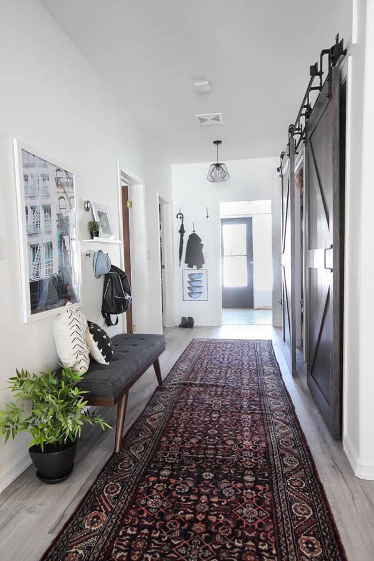 Idee per arredare un corridoio in ingresso n.14