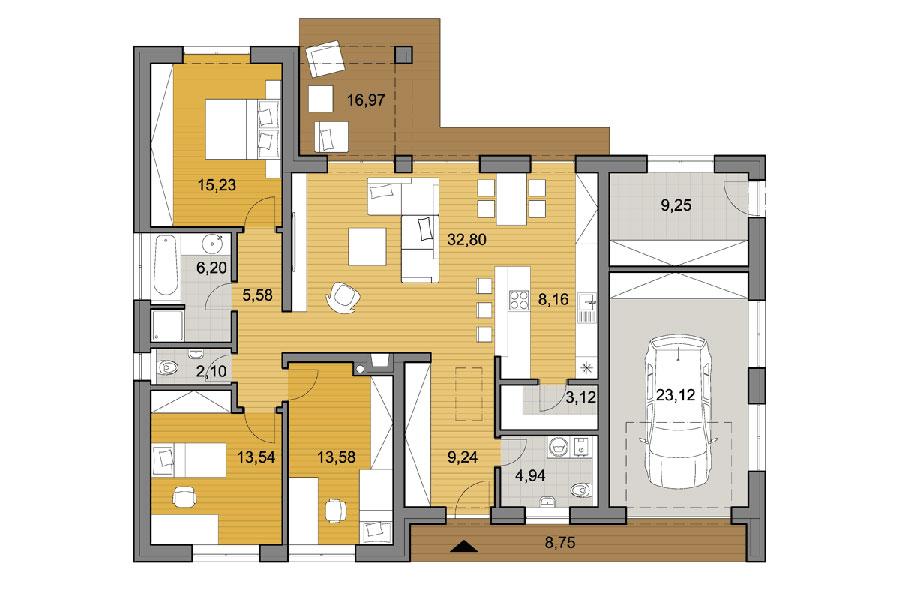 Idee planimetria casa di 150 mq n.02