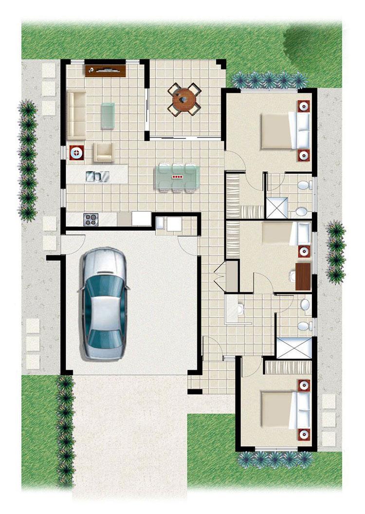 Idee planimetria casa di 150 mq n.03