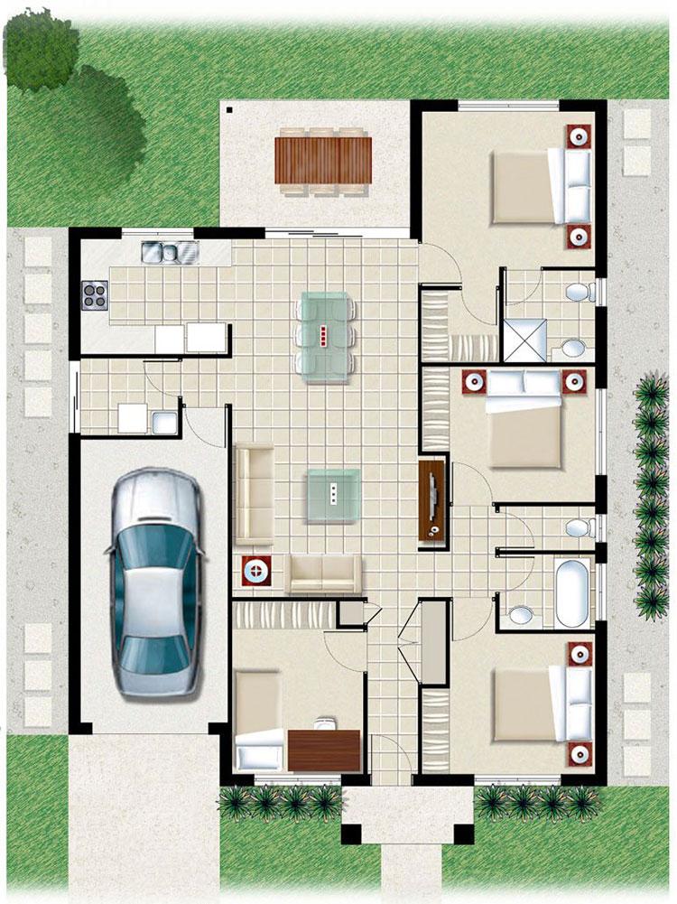 Idee planimetria casa di 150 mq n.05