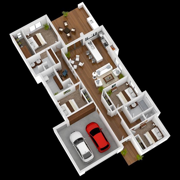 Idee planimetria casa di 150 mq n.08