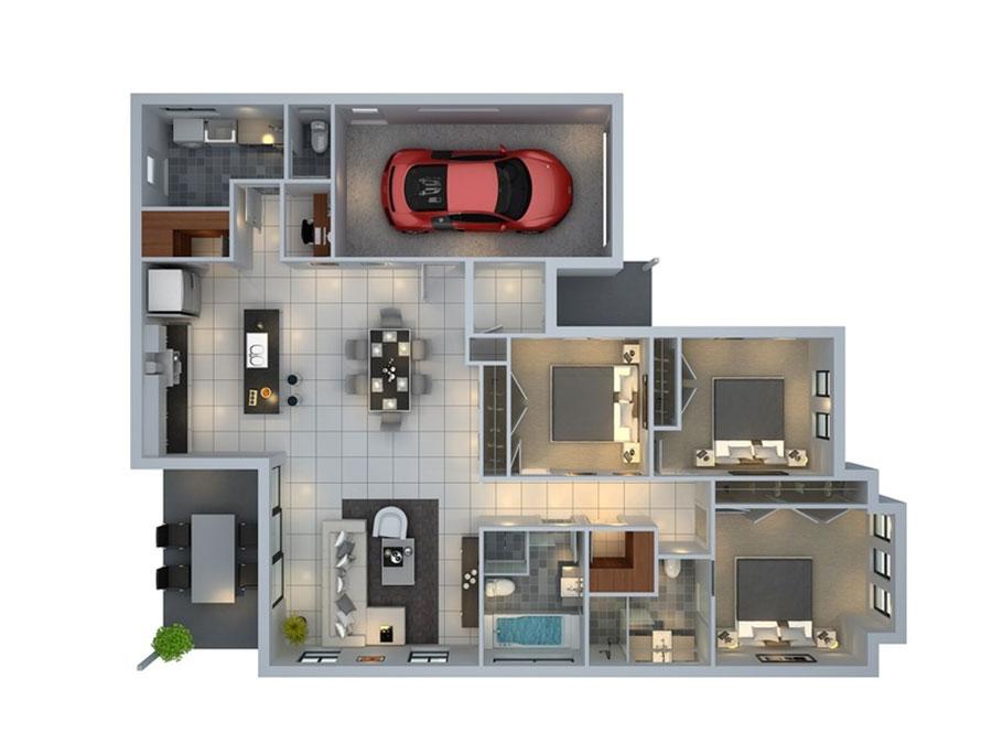 Idee planimetria casa di 150 mq n.09