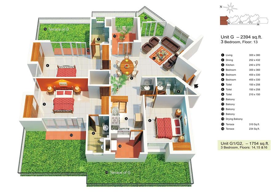 Idee planimetria casa di 150 mq n.10