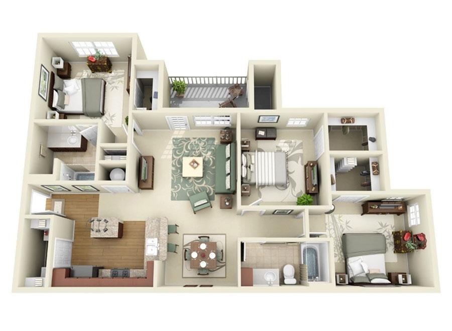 Idee planimetria casa di 150 mq n.11
