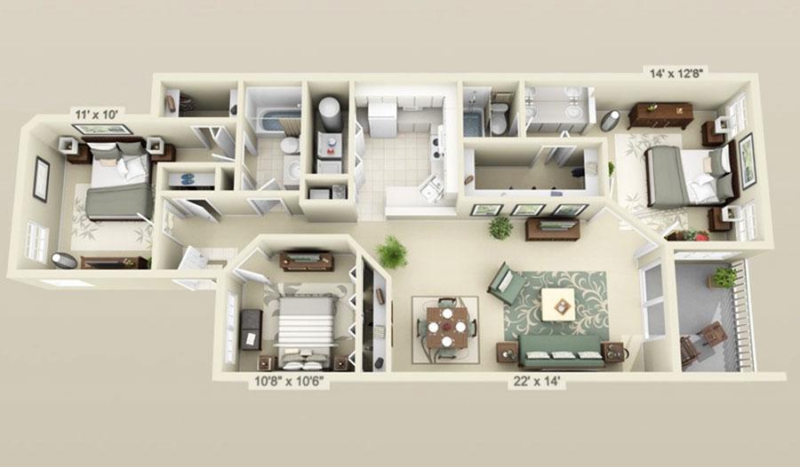 Idee planimetria casa di 150 mq n.12