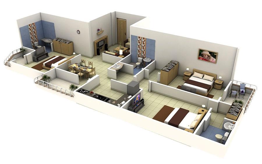 Idee planimetria casa di 150 mq n.13