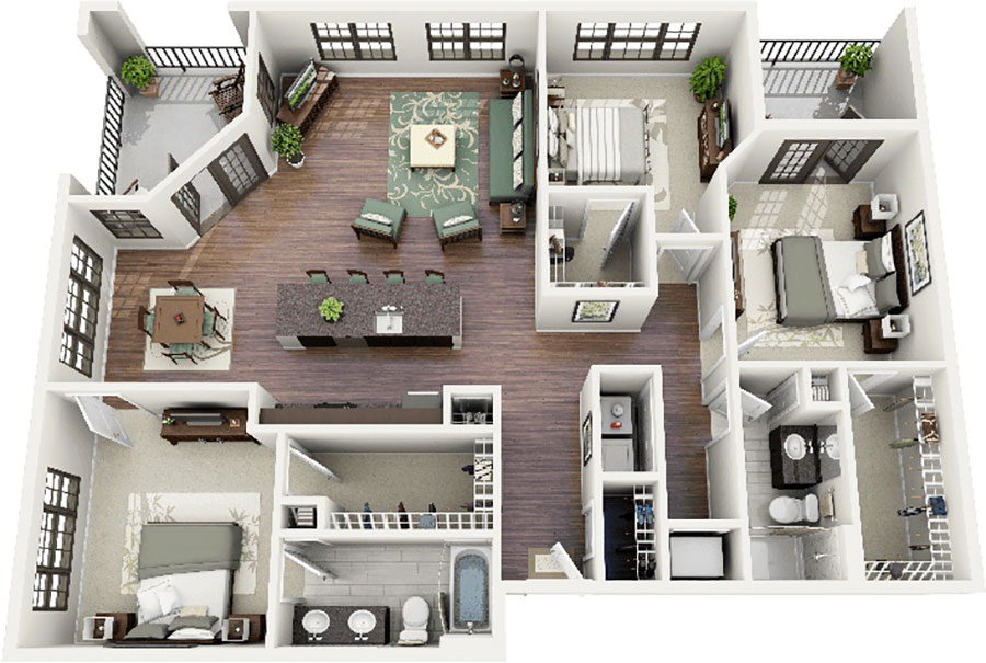 Idee planimetria casa di 150 mq n.15