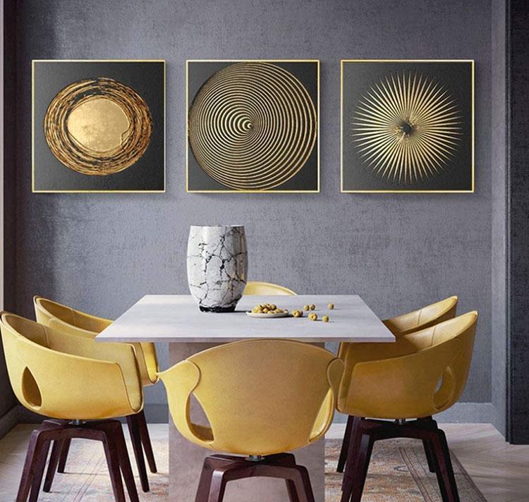 Idee quadri per sala da pranzo moderna n.01