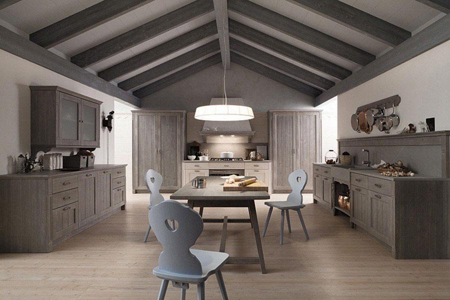 Modello di cucina classica contemporanea n.03