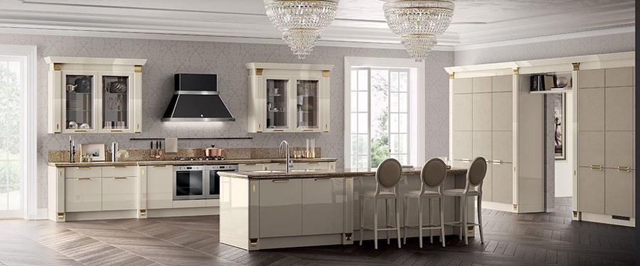 Modello di cucina classica contemporanea n.05