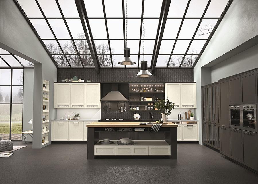 Modello di cucina classica contemporanea n.06