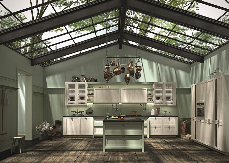 Modello di cucina classica contemporanea n.07
