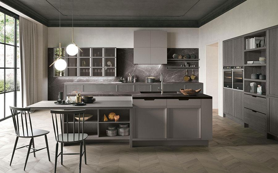 Modello di cucina classica contemporanea n.08