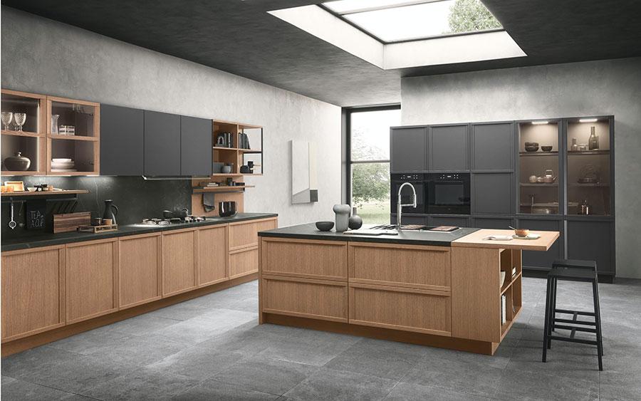 Modello di cucina classica contemporanea n.11