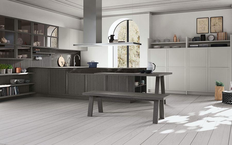 Modello di cucina classica contemporanea n.15
