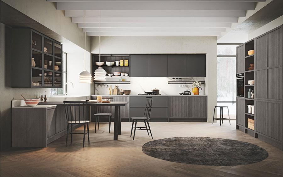 Modello di cucina classica contemporanea n.17