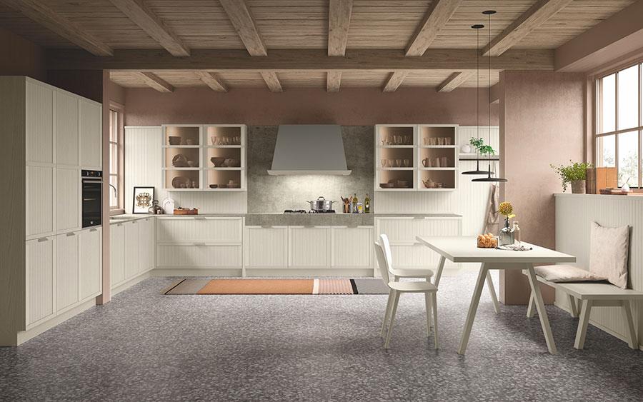 Modello di cucina classica contemporanea n.18