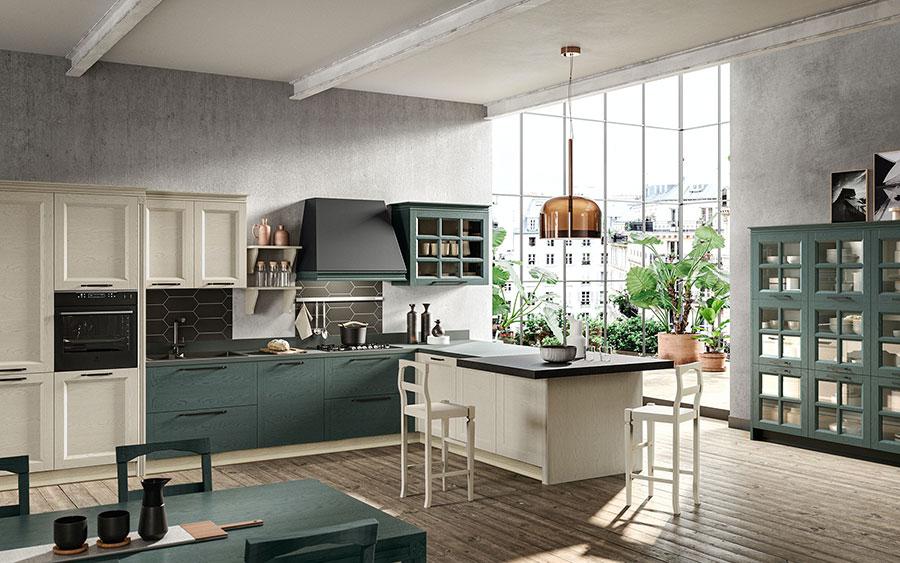 Modello di cucina classica contemporanea n.20