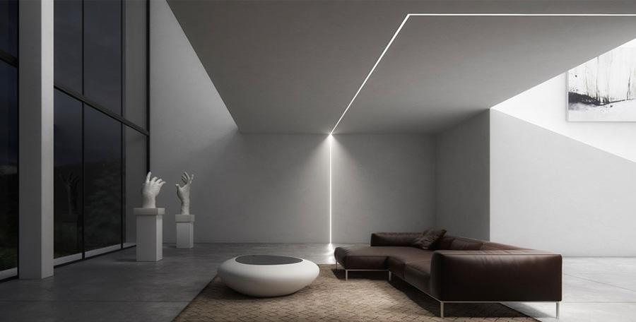 Come illuminare il controsoffitto del soggiorno