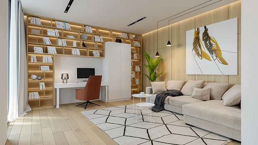Idee per illuminare il controsoffitto del soggiorno con faretti e led n.02