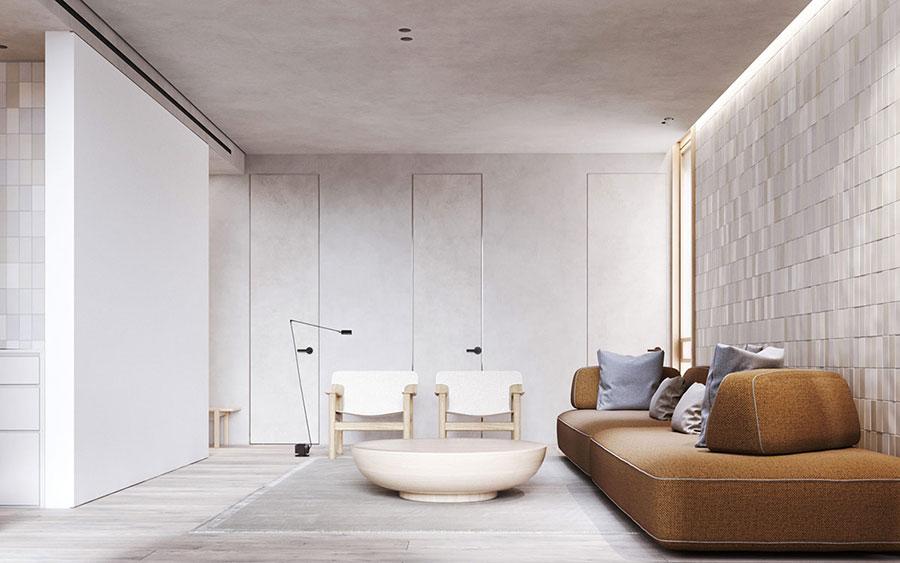 Idee per illuminare il controsoffitto del soggiorno con faretti e led n.05