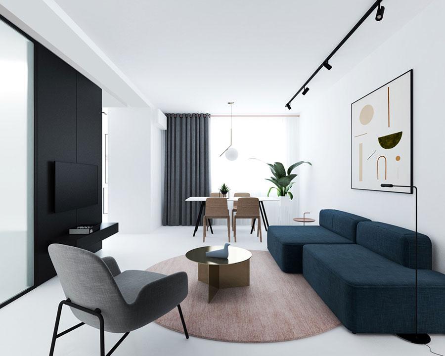 Idee per illuminare il controsoffitto del soggiorno con faretti e led n.09
