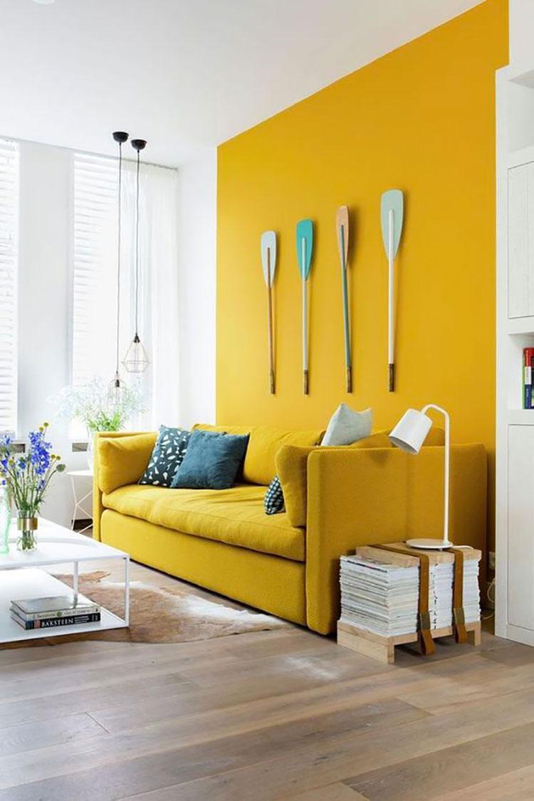 Idee per pareti colore senape n.04