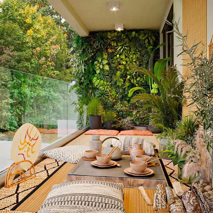 Idee per arredare un balcone con le piante n.01