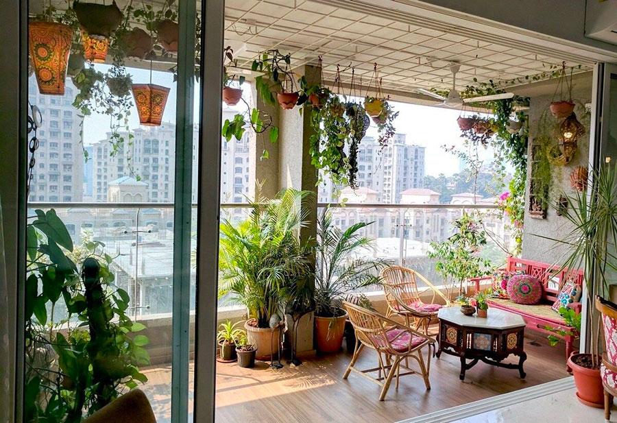 Idee per arredare un balcone con le piante n.06