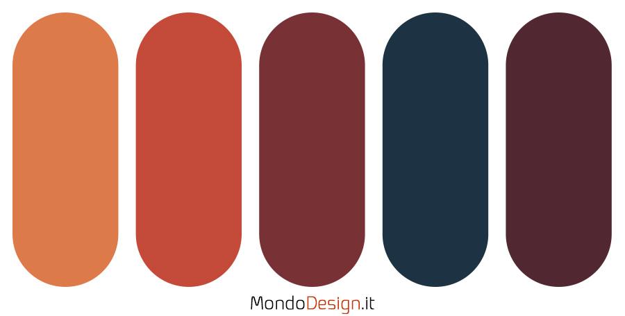 Palette con il colore terra di Siena 01