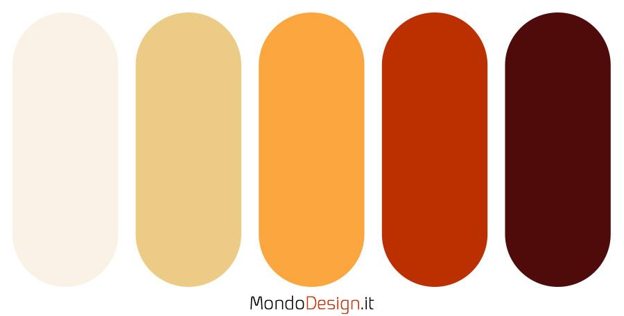 Palette con il colore terra di Siena 02