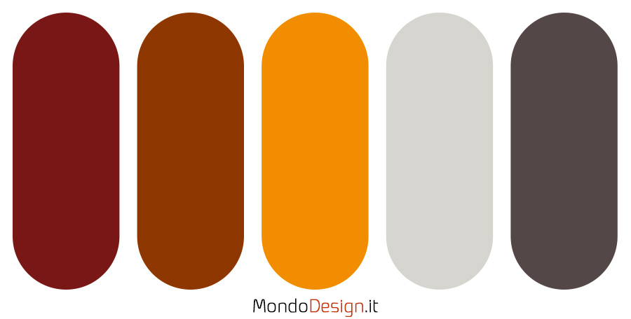 Palette con il colore terra di Siena 03