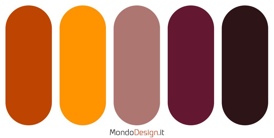 Palette con il colore terra di Siena 05