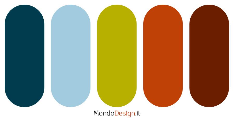 Palette con il colore terra di Siena 06
