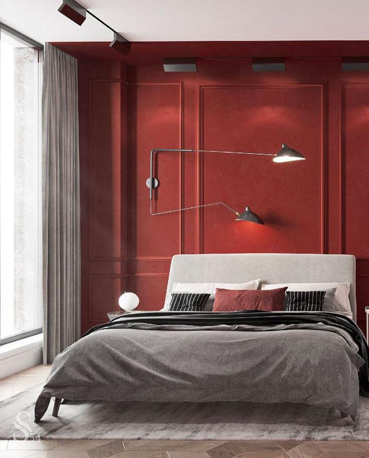 Idee camera da letto colore terra di Siena 02
