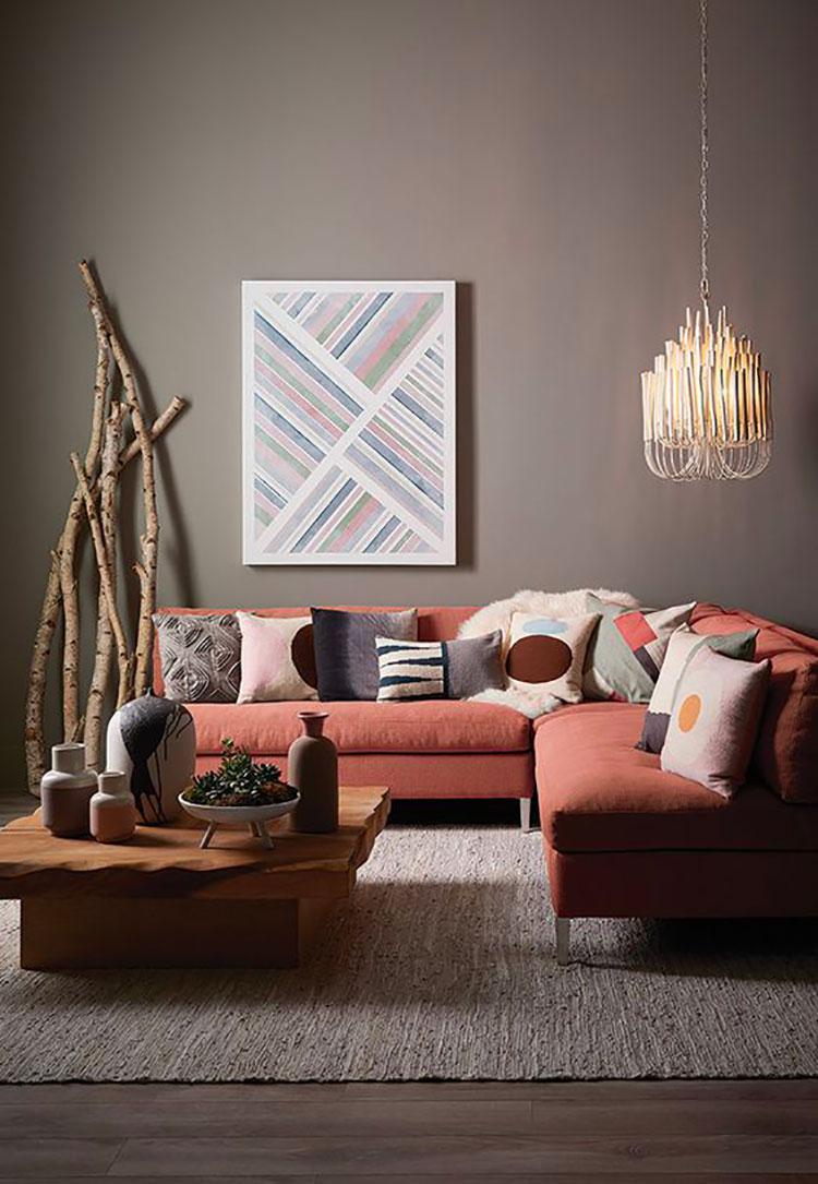 Idee divano colore terra di Siena