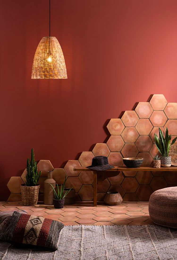 Idee per pareti colore terra di Siena 01