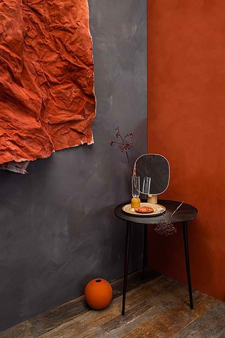 Idee per pareti colore terra di Siena 03