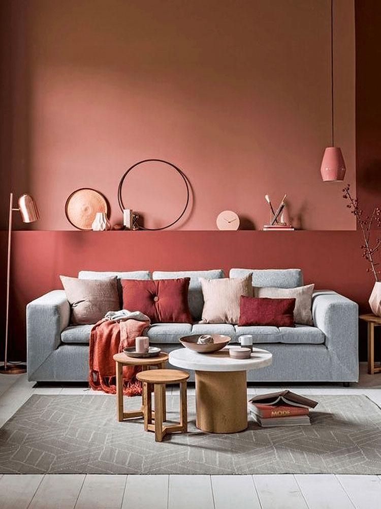 Idee per pareti colore terra di Siena 04