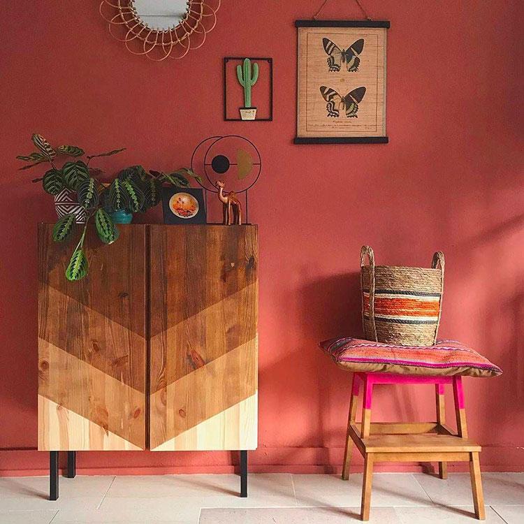 Idee per pareti colore terra di Siena 05