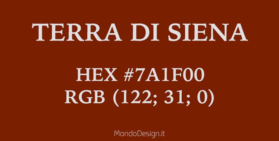Identificazione del colore terra di Siena