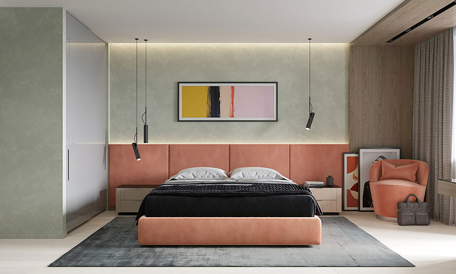 Idee colori rilassanti per la camera da letto n.02