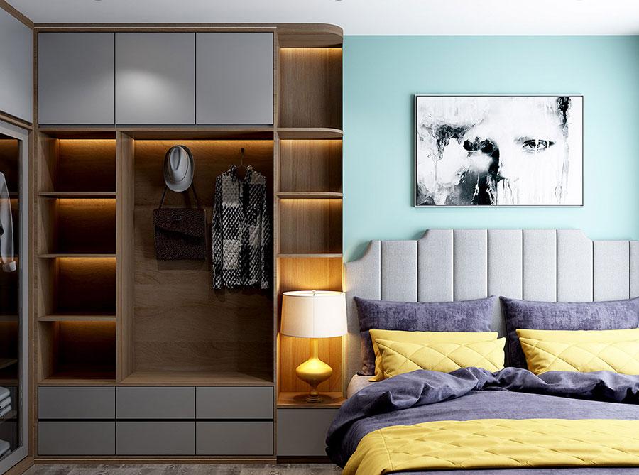 Idee colori rilassanti per la camera da letto n.05