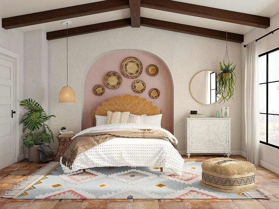 Idee per arredare una camera da letto boho chic n.24