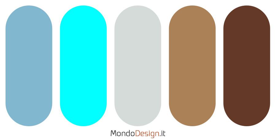 Palette con il colore ciano n.5